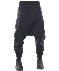 Demobaza   Big Shepherd Wool Flannel Baggy Pants