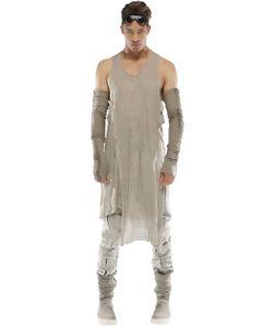 Demobaza | Fog Oversized Linen Knit Tank Top