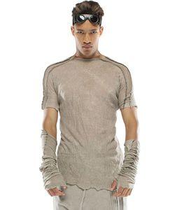 Demobaza   Basic Fog Linen Jersey T-Shirt