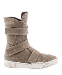 Demobaza   Cotton Canvas Velcro Sneaker Boots