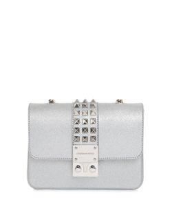 Designinverso   Amalfi Studded Glitter Pvc Shoulder Bag