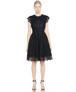 Dice Kayek | Pleated Cotton Lace Taffeta Dress