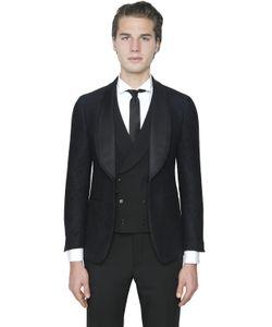 Gabriele Pasini | Wool Cotton Jacquard Evening Jacket
