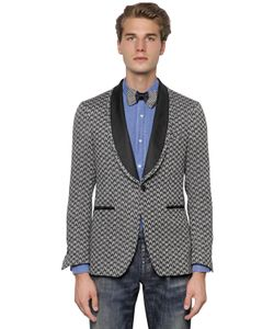 Gabriele Pasini | Macro Pattern Linen Blend Tuxedo Jacket