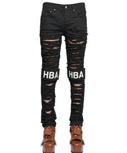 Hood By Air | 16.5cm Shredded Logo Patch Denim Jeans