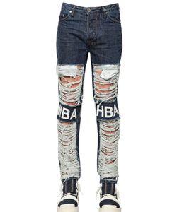 Hood By Air | 16.5cm Shredded Cotton Denim Jeans