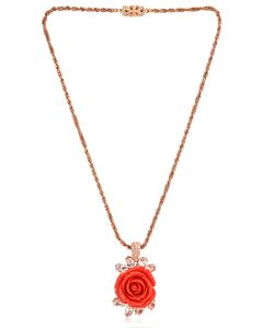 Mawi | Rose And Crystal Pendant