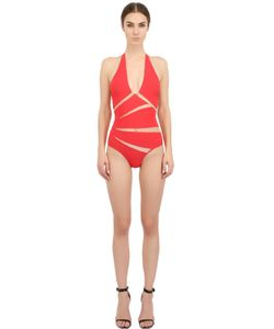 Moeva | Tulle Lycra One Piece Swimsuit