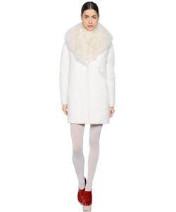 Moncler Gamme Rouge   Alpaca Fur Wool Coat