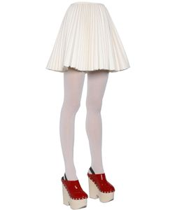 Moncler Gamme Rouge   Plisse Wool Cashmere Skirt