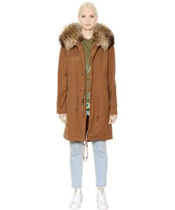 Mr & Mrs Italy | Cotton Canvas Parka With Murmansky Fur