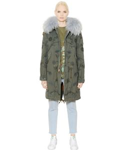 Mr & Mrs Italy | Embroidered Cotton Murmansky Fur Parka