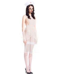 Murmur   Sheer Mesh Nurse Outfit