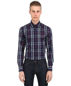 Paul & Shark | Shark Fit Checked Cotton Flannel Shirt