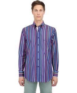 Paul & Shark | Striped Cotton Poplin Button Down Shirt