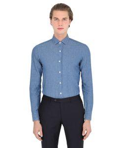Salvatore Piccolo | Slim Fit Cotton Linen Denim Shirt