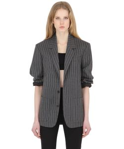 Y / Project   Oversize Pinstriped Wool Jacket
