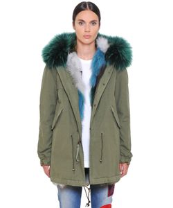 Mr & Mrs Italy | Canvas Parka W/ Fox Murmansky Fur