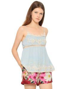 Blugirl | Viscose Crepe Lace Top