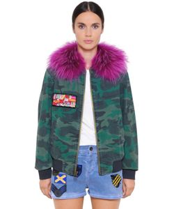 Mr & Mrs Italy | Camo Cotton Bomber W/ Murmasky Fur