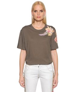 Amen | Embroidered Cotton Jersey T-Shirt