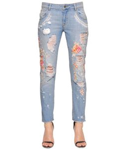 Amen | Embellished Destroyed Denim Jeans