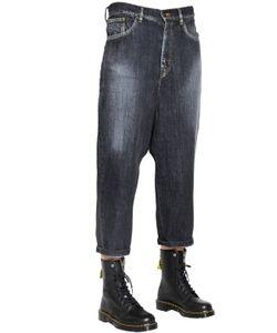 Y's   Wide Washed Cotton Denim Jeans