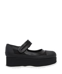 Marni   50mm Canvas Rubber Mary Jane Wedges