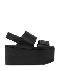 Marni   80mm Leather Sandal Wedges
