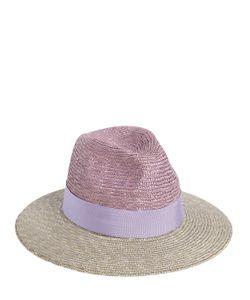 Federica Moretti | Bicolor Woven Panama Straw Hat