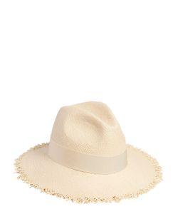 Federica Moretti | Fringed Woven Panama Straw Hat