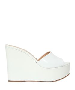 Sergio Rossi   120mm Lakeesha Patent Leather Wedges