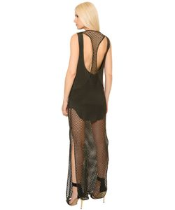 Alexandre Vauthier | Layered Fishnet Crepe Dress