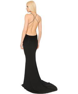 Alexandre Vauthier | Open Back Stretch Jersey Dress