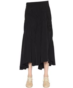 Y's   Draped Techno Crepe De Chine Skirt