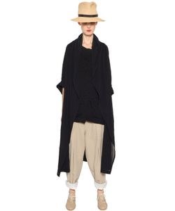 Y's   Washed Cotton Voile Light Coat