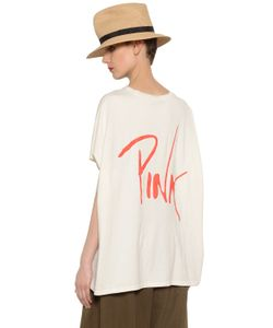 Y's   Pink Printed Cotton Jersey T-Shirt