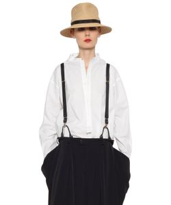 Y's   Oversized Stretch Cotton Poplin Shirt