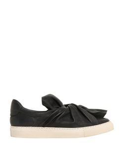 Ports 1961   20mm Knot Leather Slip-On Sneakers