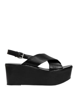 JANET&JANET   60mm Leather Wedges