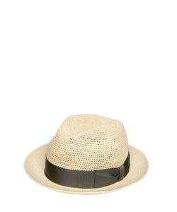 Borsalino | Crocheted Straw Medium Brim Panama Hat