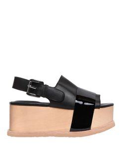 Jeffrey Campbell   70mm Patent Leather Platform Sandals