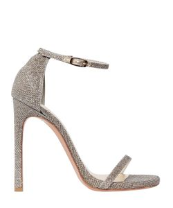 Stuart Weitzman | 120mm Nudist Glitter Fabric Sandals
