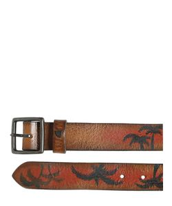 Htc Hollywood Trading Company | 30mm Paradise Hand Painted Leather Belt