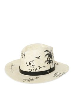 Htc Hollywood Trading Company | Hand Painted Graffiti Straw Hat