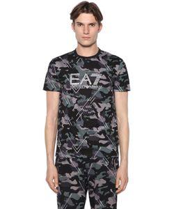 Ea7 Emporio Armani | Camouflage Printed Cotton T-Shirt