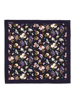 ETON | Flower Printed Silk Pocket Square