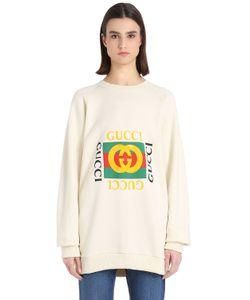 Gucci   Logo Embroidery Cotton Sweatshirt
