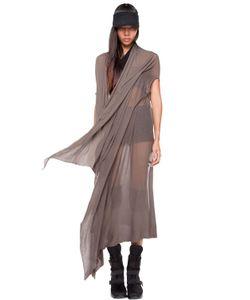 Demobaza   Earth Spirit Sheer Cotton Knit Shawl