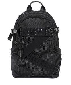 BIKKEMBERGS | Logo Straps Canvas Mesh Backpack